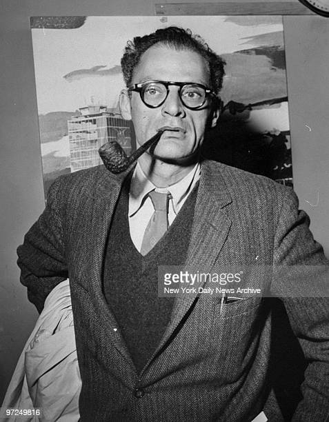 Arthur Miller arrives at Idlewild Airport from London