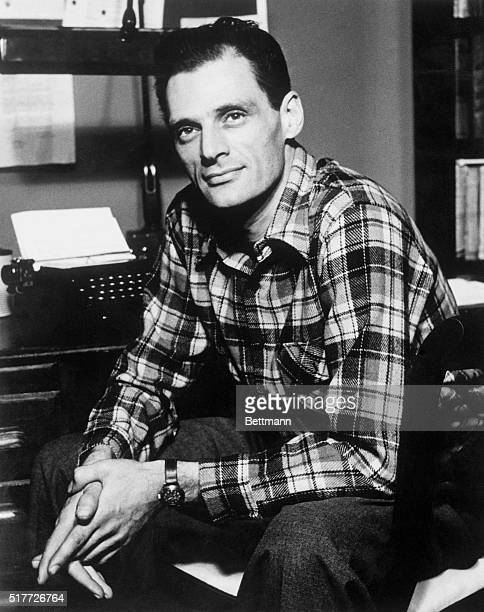 Arthur Miller sitting in his office in 1949 He won the 1949 Pulitzer Prize for the best play for Death of a Salesman which opened to rave reviews on...