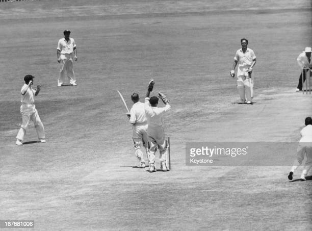 Arthur Milton survives an LBW appeal off Benaud during the second innings of the Australia versus England 3rd Test Match at Sydney, 14th January 1959.