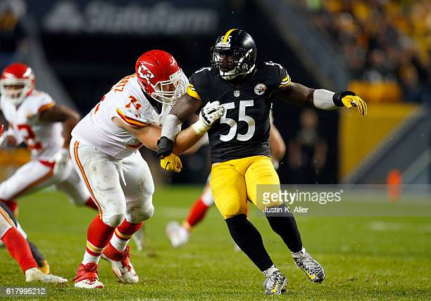 Arthur Moats of the Pittsburgh Steelers in action during the game against the Kansas City Chiefs at Heinz Field on October 2 2016 in Pittsburgh...