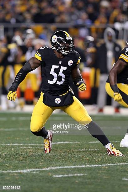 Arthur Moats of the Pittsburgh Steelers in action during the game against the New York Giants at Heinz Field on December 4 2016 in Pittsburgh...