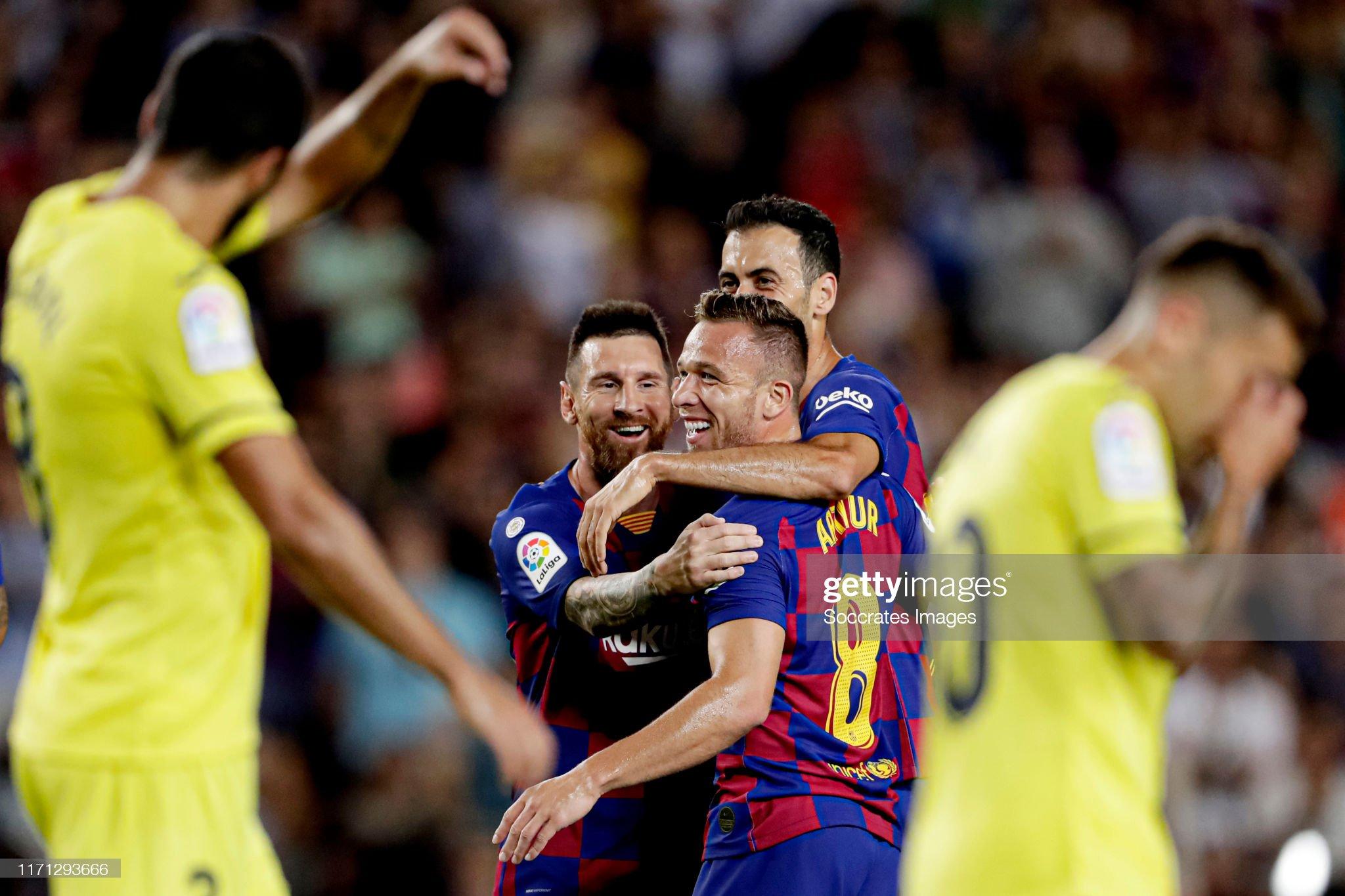 صور مباراة : برشلونة - فياريال 2-1 ( 24-09-2019 )  Arthur-of-fc-barcelona-celebrates-20-with-lionel-messi-of-fc-sergio-picture-id1171293666?s=2048x2048