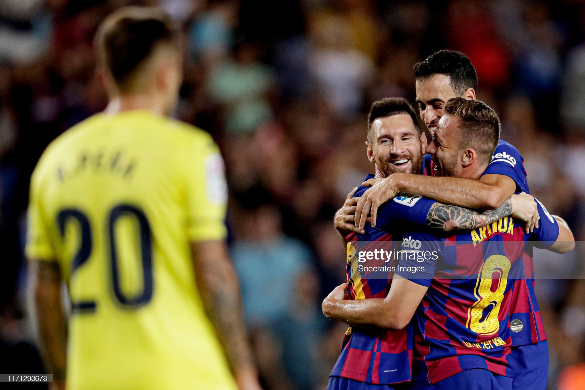 صور مباراة : برشلونة - فياريال 2-1 ( 24-09-2019 )  Arthur-of-fc-barcelona-celebrates-20-with-lionel-messi-of-fc-sergio-picture-id1171293678?s=2048x2048