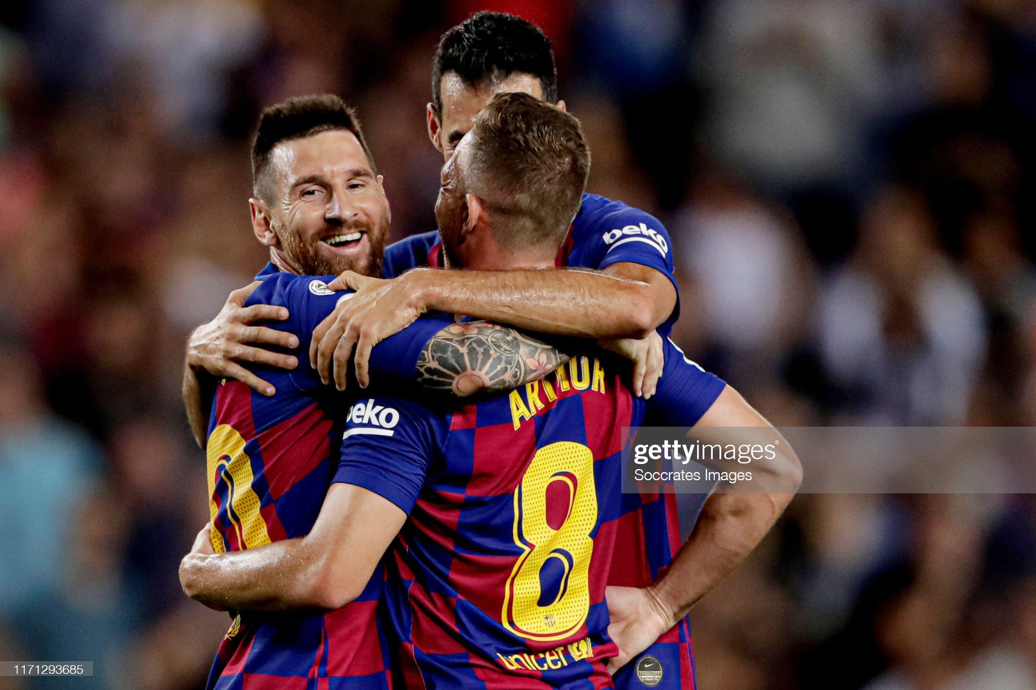 صور مباراة : برشلونة - فياريال 2-1 ( 24-09-2019 )  Arthur-of-fc-barcelona-celebrates-20-with-lionel-messi-of-fc-sergio-picture-id1171293685?s=2048x2048
