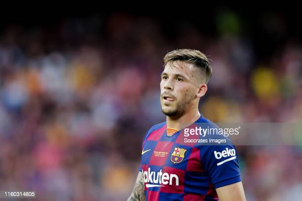 Arthur of FC Barcelona during the Club Friendly match between FC Barcelona v Arsenal at the Camp Nou on August 4 2019 in Barcelona Spain
