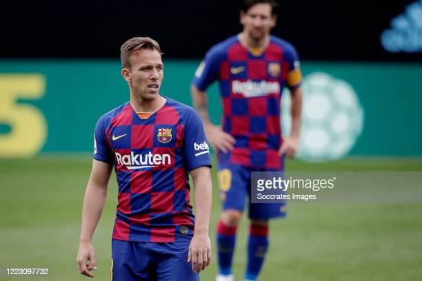 Arthur of FC Barcelona during the La Liga Santander match between Celta de Vigo v FC Barcelona at the Estadio de Balaidos on June 27 2020 in...