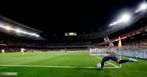 Arthur of FC Barcelona during the La Liga Santander match between FC Barcelona v Villarreal at the Camp Nou on September 24, 2019 in Barcelona Spain