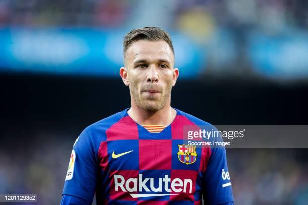 Arthur of FC Barcelona during the La Liga Santander match between FC Barcelona v Getafe at the Camp Nou on February 15 2020 in Barcelona Spain
