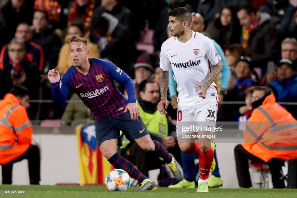 FC Barcelona v Sevilla - Spanish Copa del Rey : Fotografía de noticias