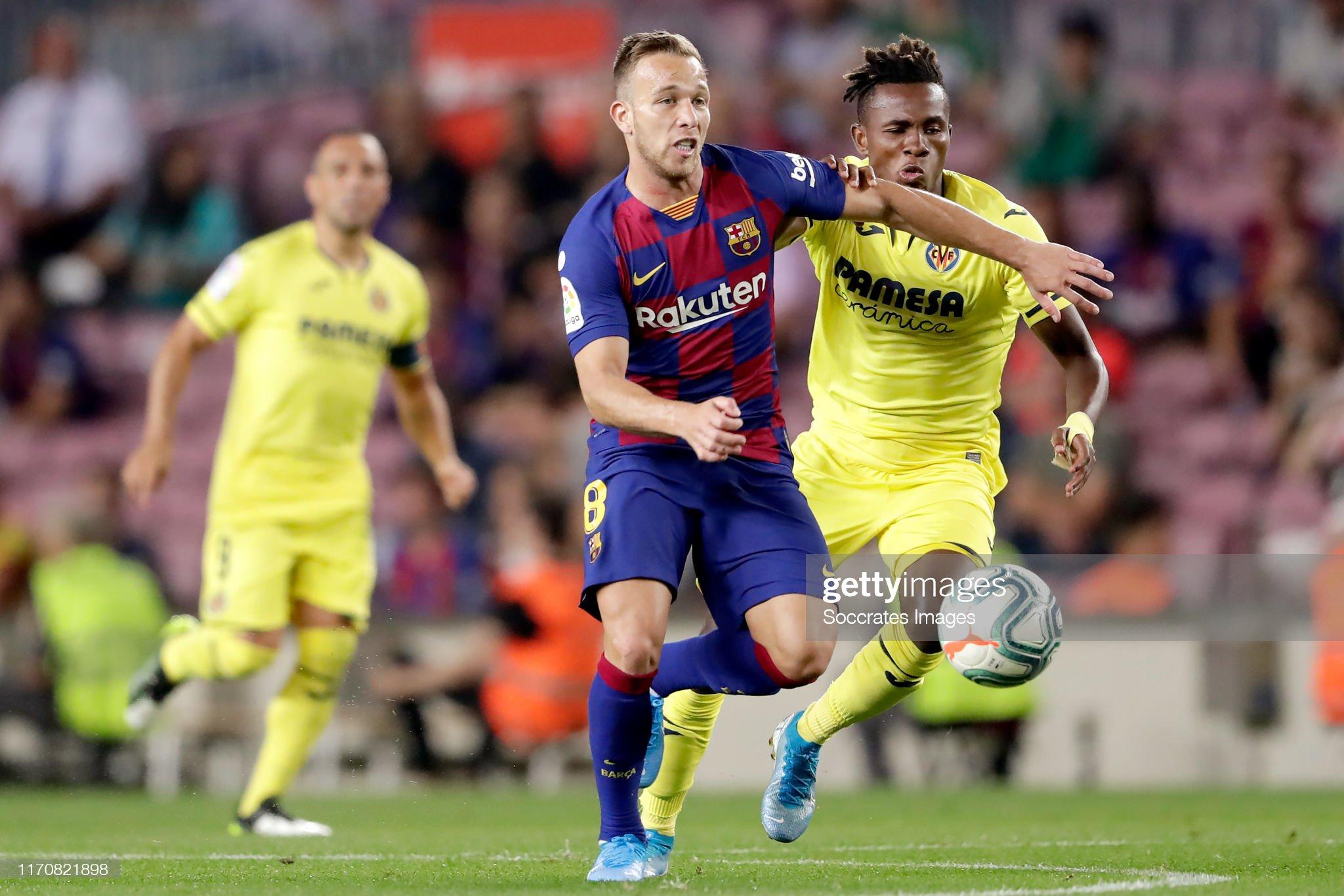 صور مباراة : برشلونة - فياريال 2-1 ( 24-09-2019 )  Arthur-of-fc-barcelona-samuel-chukwueze-of-villarreal-during-the-la-picture-id1170821898?s=2048x2048