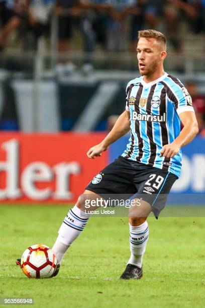 Arthur of Gremio during the match between Gremio and Cerro Porteno part of Copa Bridgestone Libertadores 2018 at Arena do Gremio on May 01 in Porto...