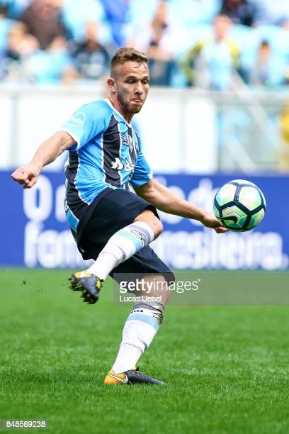 Arthur of Gremio during the match Gremio v Chapecoense as part of Brasileirao Series A 2017 at Arena do Gremio on September 17 in Porto Alegre Brazil
