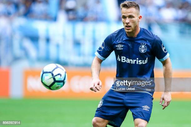 Arthur of Gremio during the match Gremio v Fluminense as part of Brasileirao Series A 2017 at Arena do Gremio on October 01 in Porto Alegre Brazil