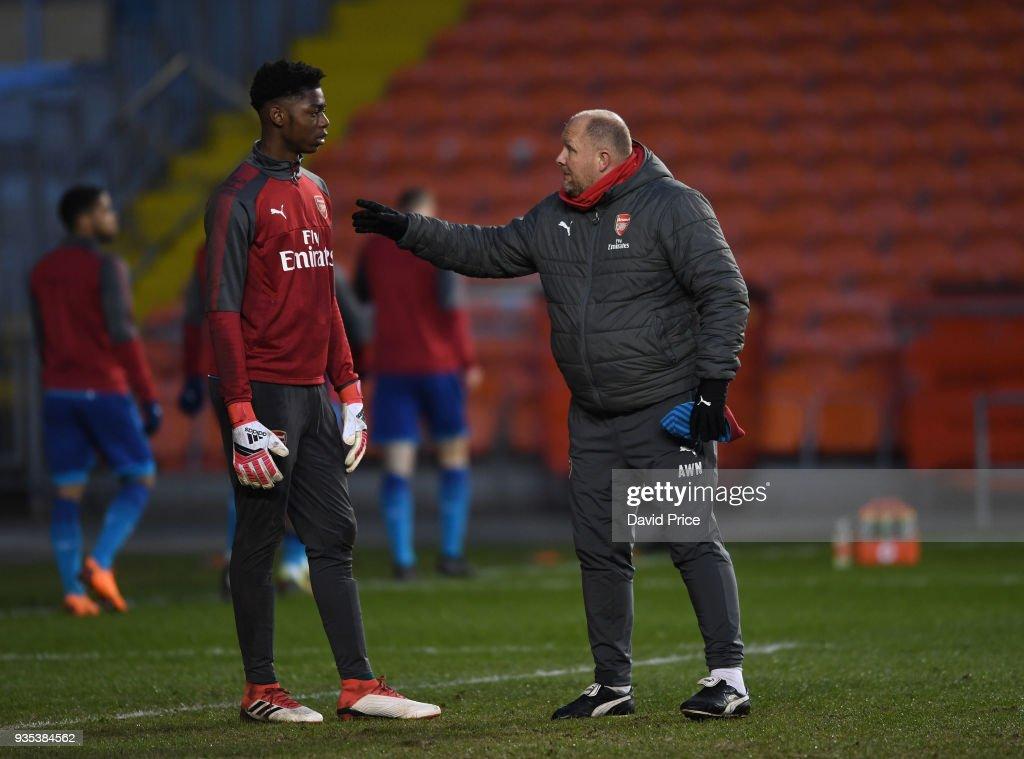 Blackpool U18 v Arsenal U18: FA Youth Cup, Semi-Final,First Leg : News Photo