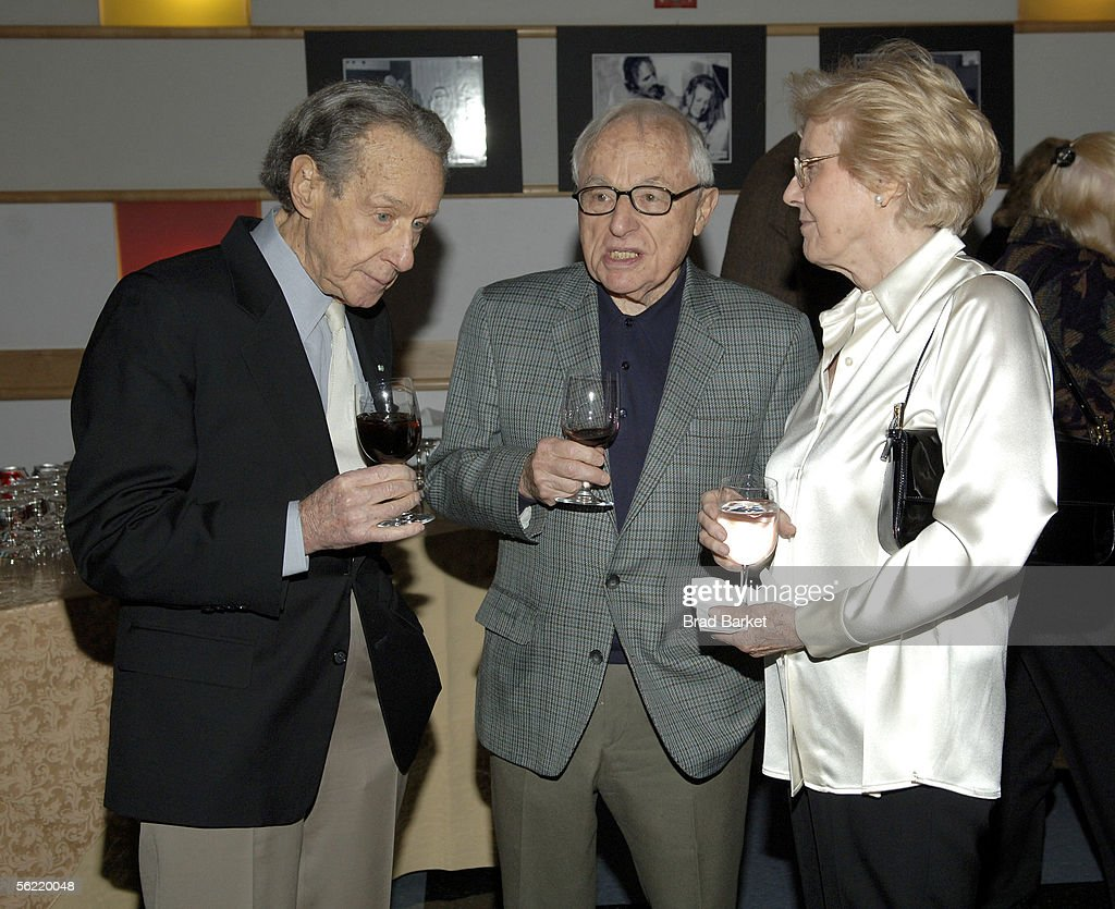 Arthur Penn, Walter Bernstein and wife are seen at the Academy Pays Tribute To Arthur Penn at the Academy Theater at Lighthouse International on November 17, 2005 in New York City.