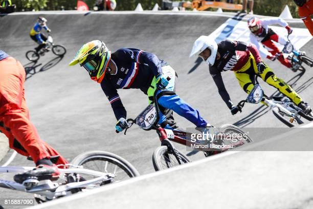 Arthur Pilard of France competes during the UEC BMX European Championships 2017 on July 15 2017 in Bordeaux France