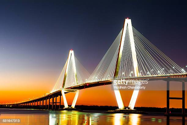 arthur ravenel bridge - template_talk:south_carolina stock pictures, royalty-free photos & images