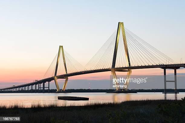 Arthur Ravenel Jr Bridge at Sunset