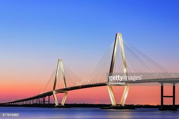 arthur ravenel jr cooper river suspension bridge charleston sc - template_talk:south_carolina stock pictures, royalty-free photos & images