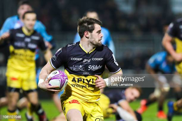 Arthur Retiere of La Rochelle during the European Challenge Cup match between La Rochelle and Zebre at Stade Marcel Deflandre on January 11 2019 in...