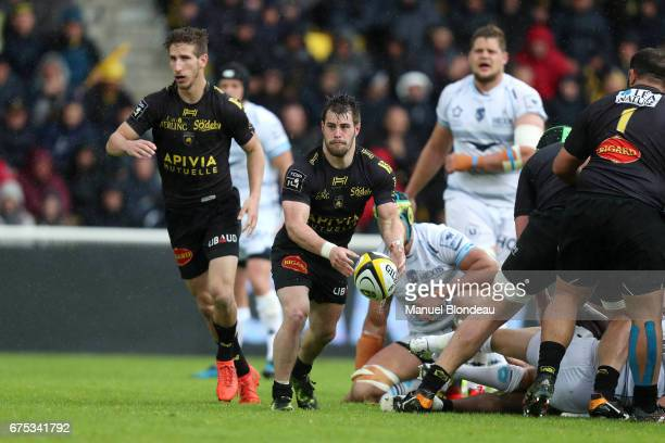 Arthur Retiere of La Rochelle during the French Top 14 match between La Rochelle and Montpellier on April 30 2017 in La Rochelle France