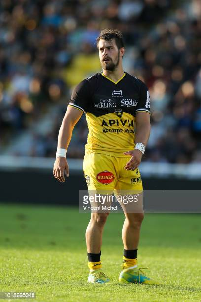 Arthur Retiere of La Rochelle during the test match between La Rochelle and SU Agen on August 17 2018 in La Rochelle France