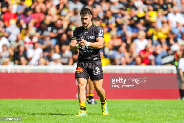 Arthur Retiere of La Rochelle during the Top 14 match between La Rochelle and Perpignan at Stade MarcelDeflandre on September 16 2018 in La Rochelle...