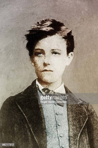 Arthur Rimbaud French poet at the 17years old by Carjat Charleville Rimbaud museum Colourized photo
