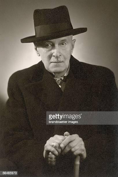 Arthur Roessler Austrian writer PhotographyAround 1935 [Arthur Roessler oesterreichischer Schriftsteller PhotographieUm 1935]