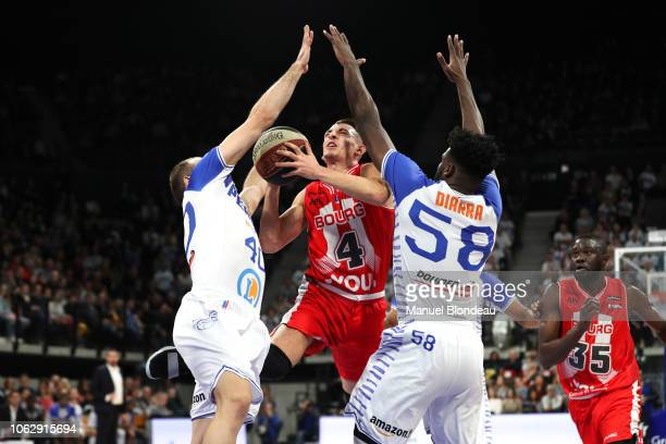 Arthur Rozenfeld of Bourg en Bresse during the Jeep Elite match between Boulazac Basket Dordogne v JL Bourg en Bresse on November 17 2018 in Boulazac...