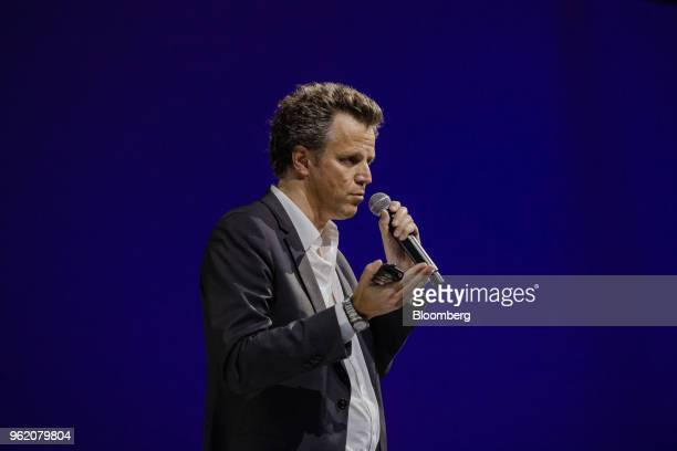 Arthur Sadoun chief executive officer of Publicis Groupe SA speaks during the Viva Technology conference in Paris France on Thursday May 24 2018 Viva...