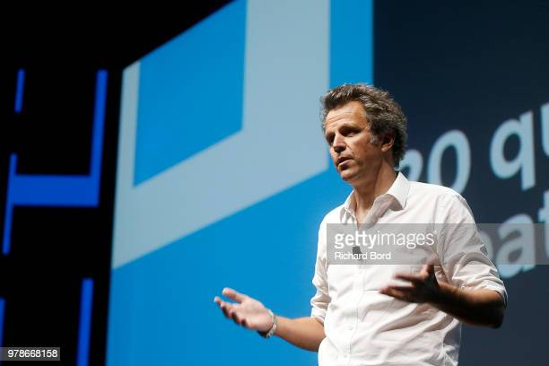 Arthur Sadoun speaks onstage during the Publicis and Arthur Sadoun session at the Cannes Lions Festival 2018 on June 19 2018 in Cannes France