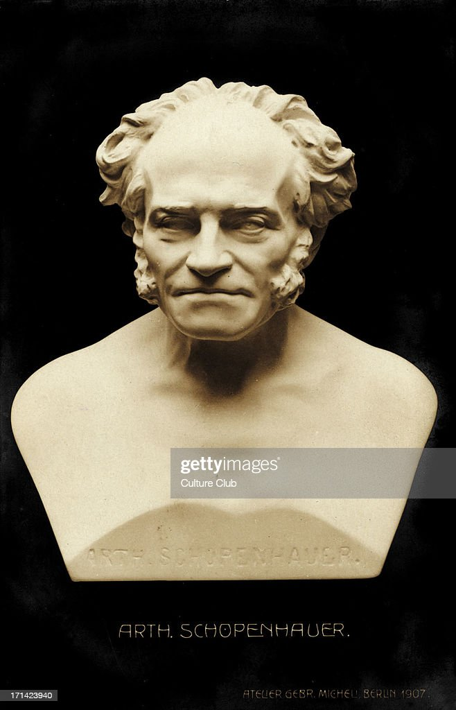 Arthur Schopenhauer, bust. German Philosopher, : News Photo