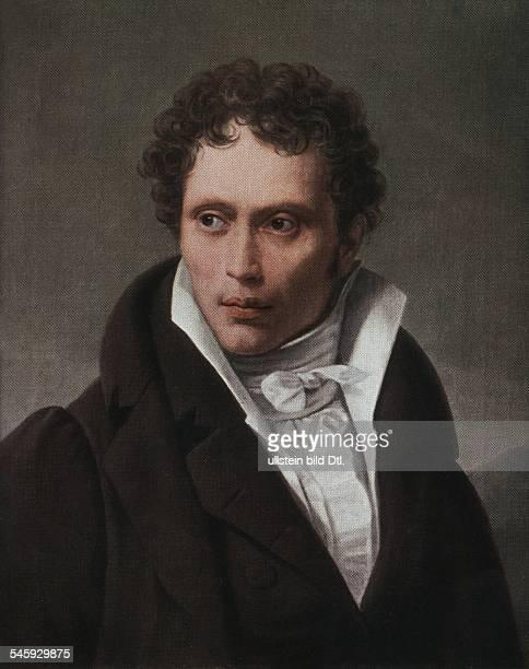 Arthur Schopenhauer german philosopher painting by LS Ruhl around 1815