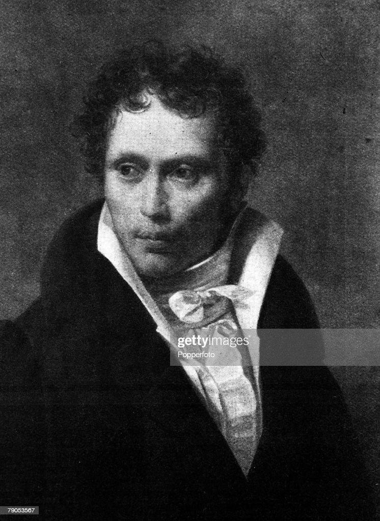 Arthur Schopenhauer, German Philosopher. (1788-1860).Portrait by, Johann Christian Ruhl. : News Photo