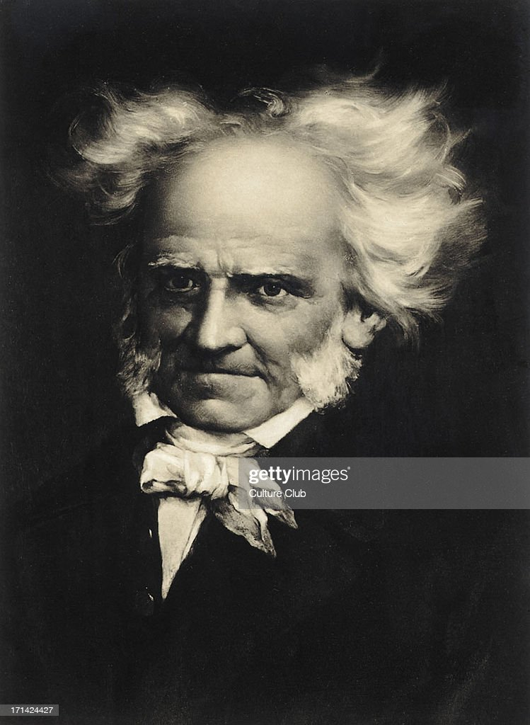 Arthur Schopenhauer, portrait. German Philosopher, : News Photo