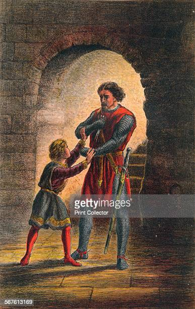 'Arthur speaks in King John Act IV Scene I Or Hubert if you will cut out my tongue So I may keepKing John' c1875 From The Illustrated Library...