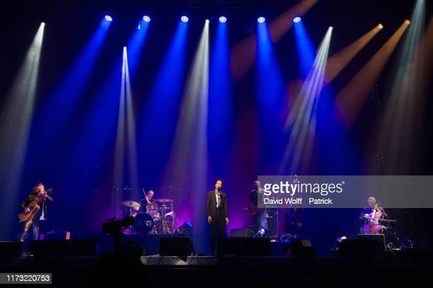 Arthur Teboul performs during Immortel Show in memory of Alain Bashung at Le Grand Rex on October 2, 2019 in Paris, France.