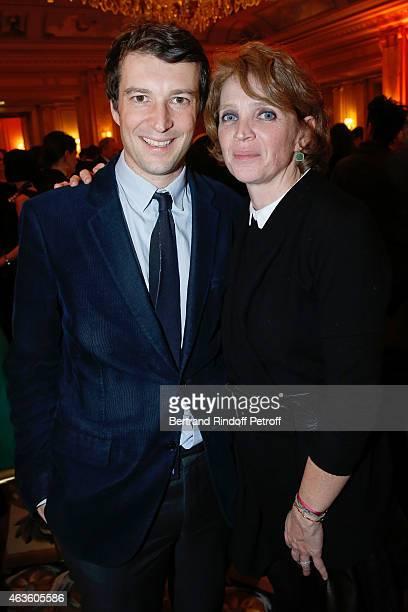 Arthur Toscan du Plantier and his cousin Ariane Toscan du Plantier attend the 'Daniel Toscan du Plantier Producer's Price Cesar Film Awards 2015'...