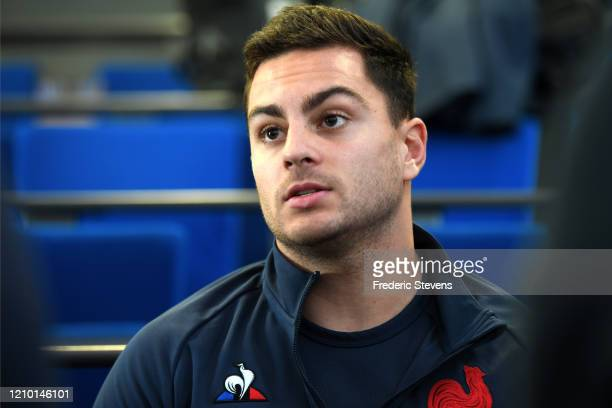 Arthur Vincent during the Press Conference at National Rugby Center before the Nat West Six Nations match against Scotland on March 03, 2020 in...