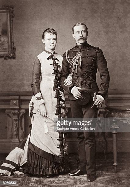 Arthur William Duke of Connaught third son of Queen Victoria with the Duchess of Connaught formerly Princess Louise Margaret of Prussia