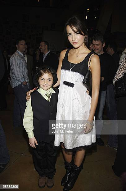 Arthur Young and Camilla Belle arrive at the Arclight Cinemas in Hollywood for the premiere screening of When A Stranger Calls on February 2 2006 in...
