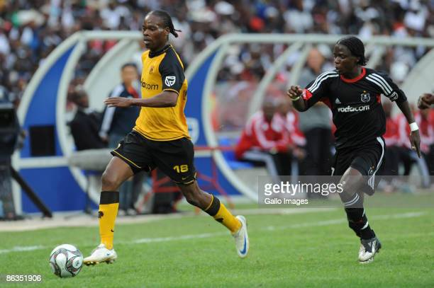 Arthur Zwane and Josephy Kamwendo during the Absa Premiership match between Orlando Pirates and Kaizer Chiefs from Coca Cola Park on May 2 2009 in...