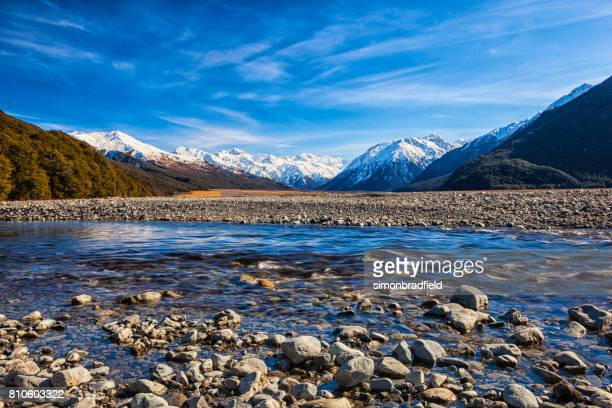 Arthur's Pass And The Southern Alps In New Zealand