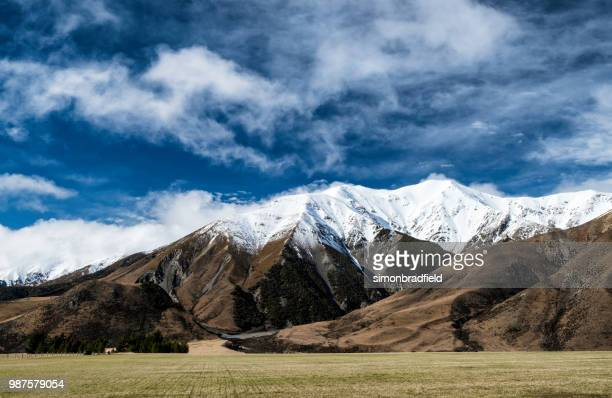 arthur's pass national park scenic, new zealand - foothills stock pictures, royalty-free photos & images