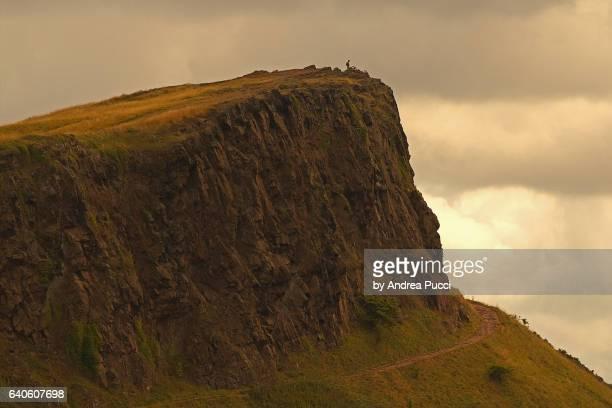 Arthur's Seat from Carlton Hill, Edinburgh, Scotland, United Kingdom