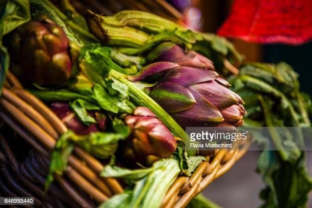 Artichoke in street market