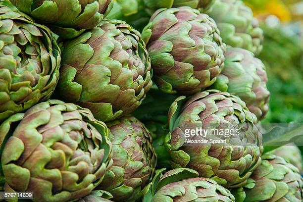 Artichokes for sale at market at Campo De' Fiori
