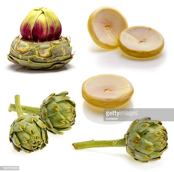artichokes set - syolacan stock pictures, royalty-free photos & images