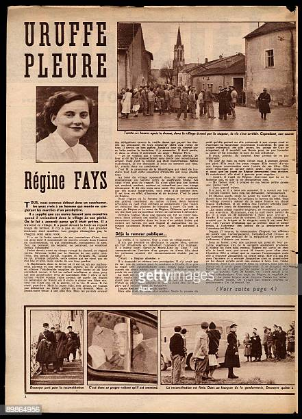 Article from french magazine Detective december 17 1956 about affair of Uruffe priest in France